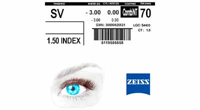 Zeiss Single Vision 1.5 Combi NT