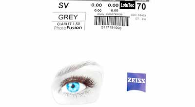 Zeiss Single Vision 1.5 LotuTec PhotoFusion