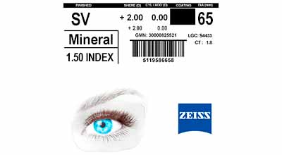 Zeiss Single Vision Mineral 1.5